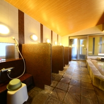 女性大浴場 洗い場