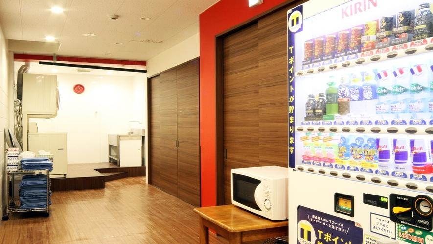 別館 セジュールフジタ 観音本町 1階 コインランドリー&自動販売機コーナー