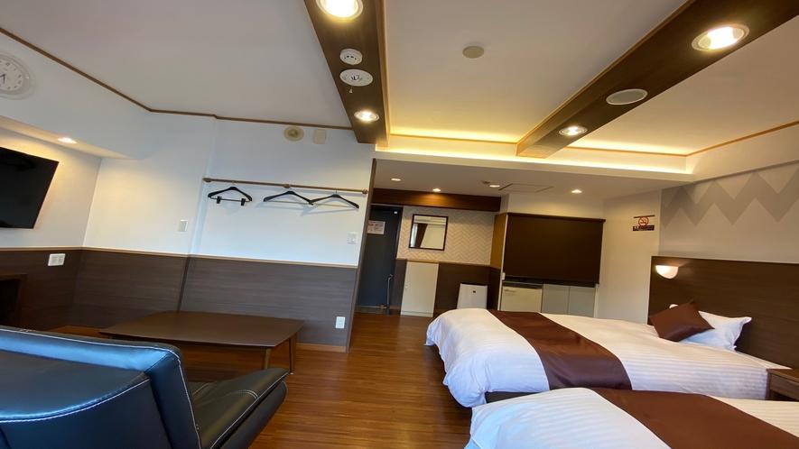 ツインルーム(広さ24㎡ ベッド幅110cmと110cm)
