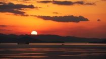 夕陽百選の夕陽