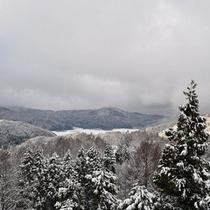 *タングラムスキー場/高台からは美しい雪景色が見下ろせます。