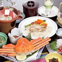 *夕食一例(グリーン期)/山海の美味しい味覚をぎゅっと凝縮!