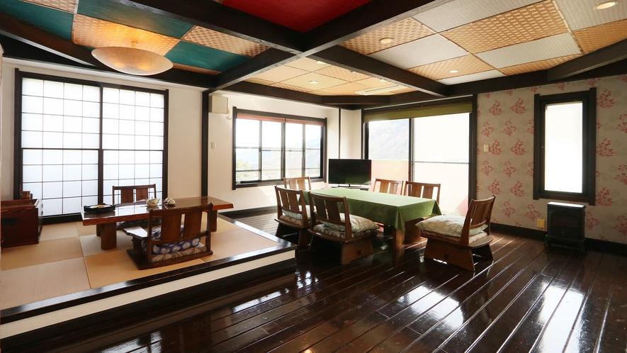 特別室-大黒天の間--[海本]の最上階に位置し、55畳という広さの展望露天風呂付客室