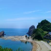 6月高台からの今子浦海岸の眺め
