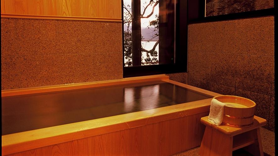 【檜風呂】特別室の檜風呂