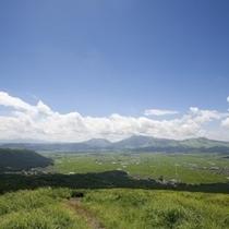 【阿蘇の観光】大観峰からみた阿蘇谷(阿蘇市)