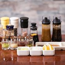 4種のタレと12種の薬味