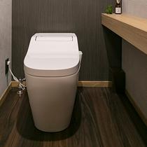 広く設計したトイレは…