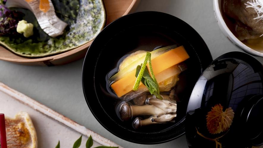 海老と玉蜀黍の真薯