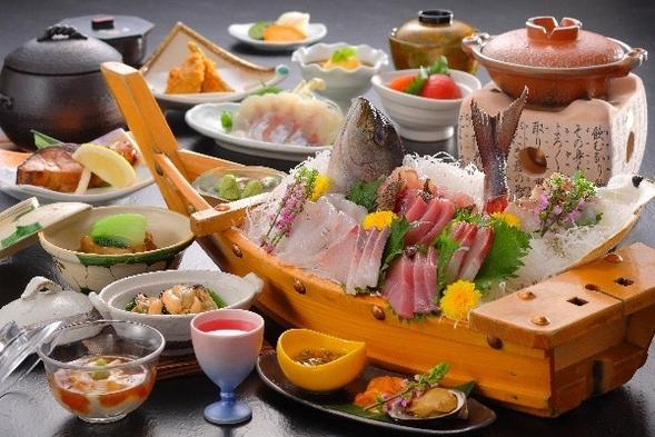 【夏旅セール】【鮑or和牛】メインが選べるチョイスプラン+地魚舟盛 部屋食