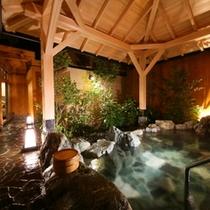草月の湯 露天風呂(夜)
