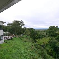 窓からの景色/那須高原から眺める風景