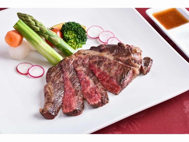 グレードアップメニュー:那須野ヶ原牛のステーキ