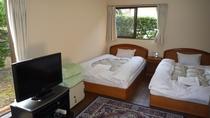 一棟貸切【洋室ツイン】18平米 ベッドルーム
