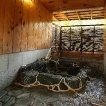 露付き客室 桃山 露天風呂