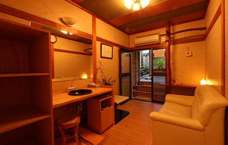 貸切露天風呂「ハーブの湯」脱衣室