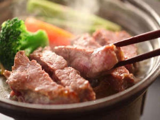 やわらかいと評判の信州牛のステーキです