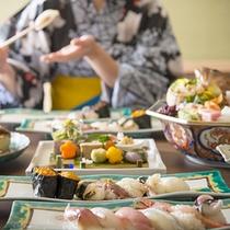 加賀鮨懐石とモデル