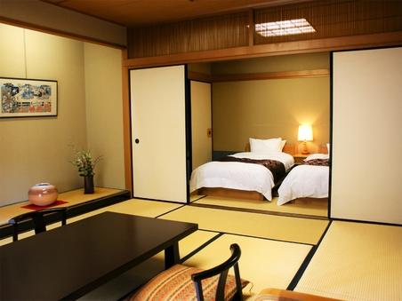和洋室【和室10畳+ツインベッド6畳】