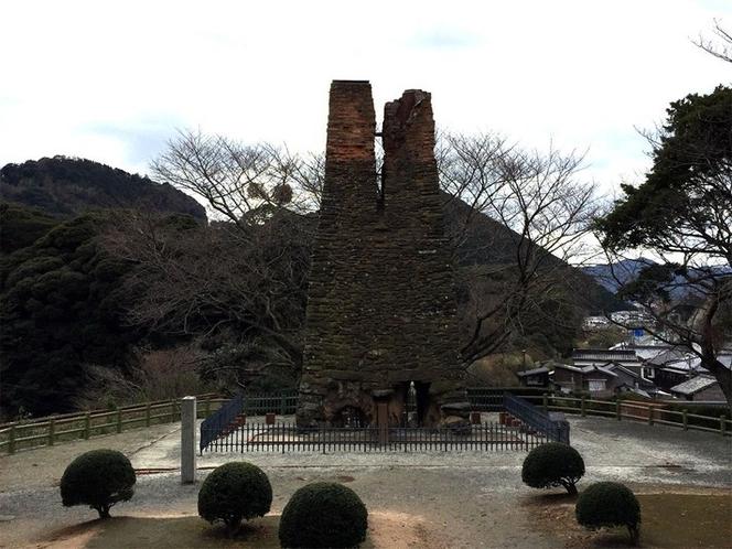 【萩反射炉】世界遺産にも登録されている、鉄製大砲の鋳造に必要な金属溶解炉。(車で15分)