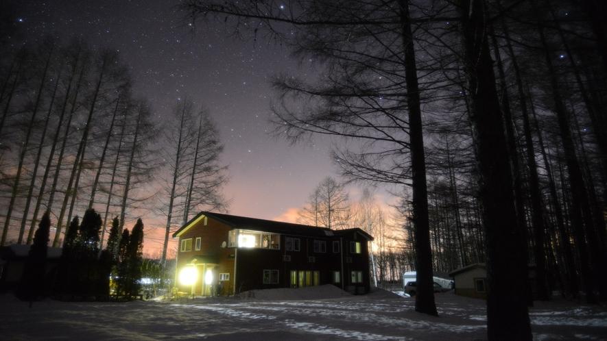 帯広八千代ユースホステル 冬全景