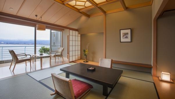 1室のみ特別室【最上階 絶景】天空の間:露天風呂付き和洋室