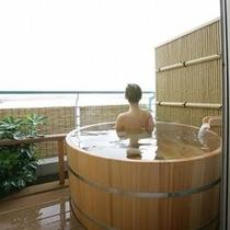 露天風呂付客室入浴イメージ