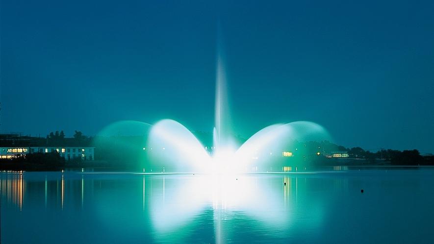柴山潟噴水夜