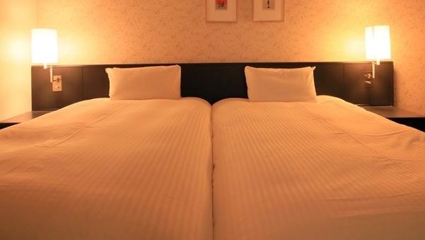 【禁煙】ツイン2名☆31平米・ベッド幅110センチ添い寝2名