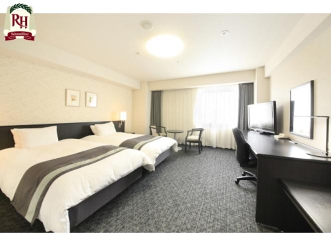 【部屋】ツインルーム(2台のベッドが隣接して設置されているタイプ)