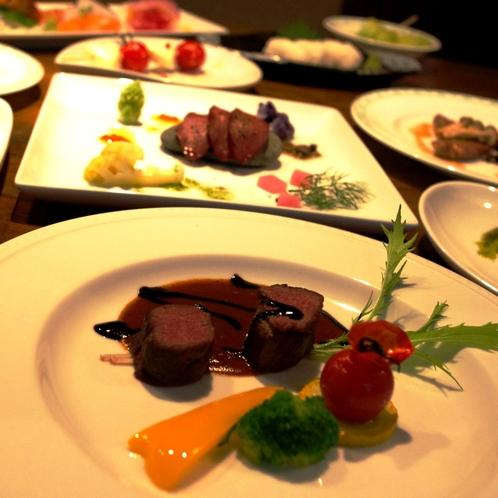 ≪夕食≫エゾシカ肉を様々な調理方法で楽しめる