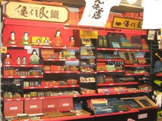 1階には北海道土産ショップ