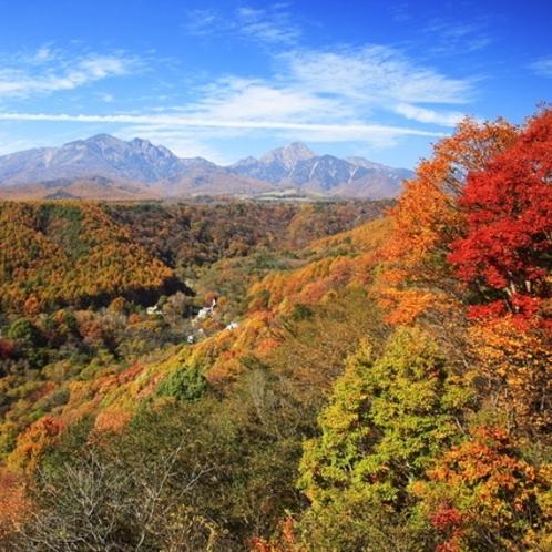 八ヶ岳と紅葉