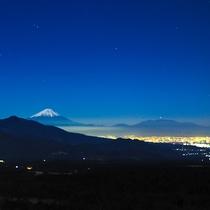 富士山と甲府盆地