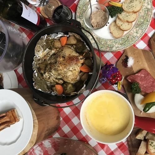 グランピングプラン 夕食はスペシャルキャンプ料理