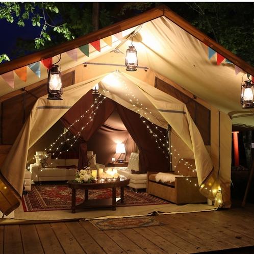 グランピング内 貸出用テント