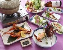 海鮮鍋と伊勢海老グルメプラン