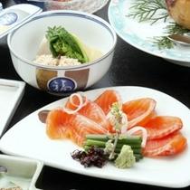 トロリ滑らかな『信州サーモン』(ご夕食一例)