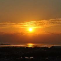 <景観> 朝日