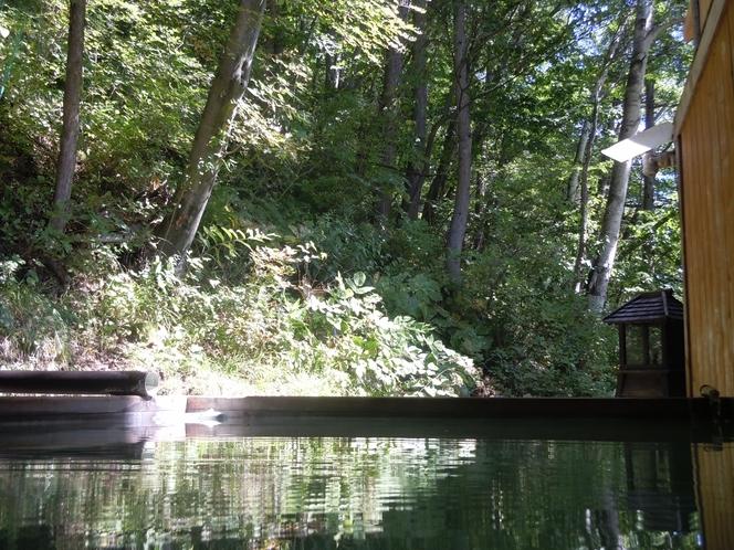 林の中の露天風呂