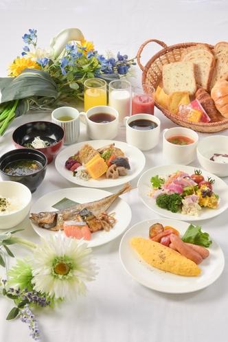 朝食ビュッフェ盛り付け例①
