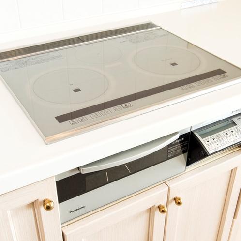 ▲IHシステムキッチンイメージ(調理器具・食器別途レンタル)