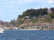 千波湖と偕楽園