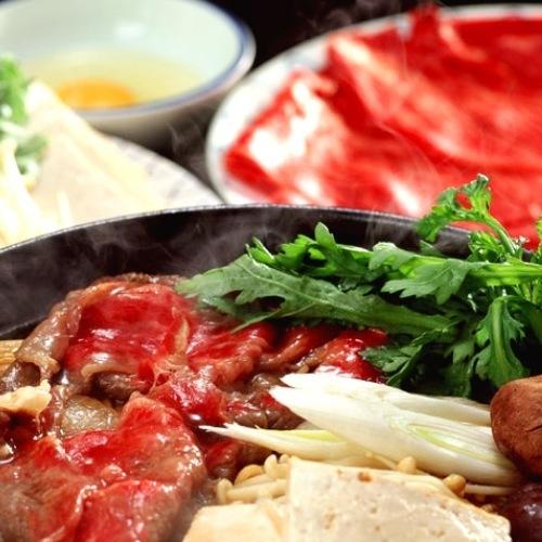 冬の特選鍋 ブランド和牛のすき焼き