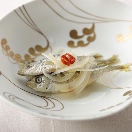 ご夕食・姫鯵南蛮漬け