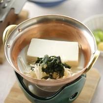 ご朝食・豆乳豆腐鍋