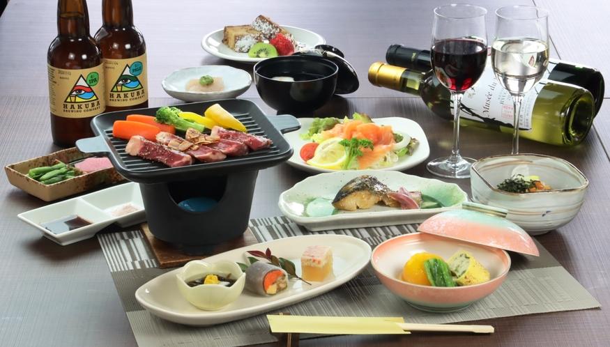 【スタンダード】牛肉。夕食全体の一例になります。