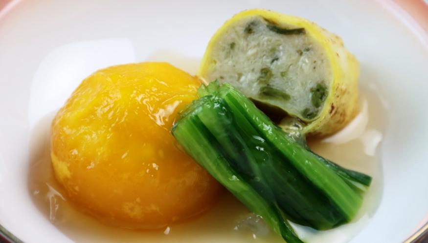 【夕食】季節の焚物。こだわりの手づくり料理です。
