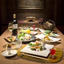 夕食■金谷流懐石〜和敬洋讃〜