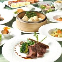 レストラン「ベルガモット」ディナー一例(メイン肉料理)